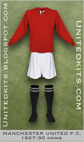 Manchester United 1927-1930 Home kit