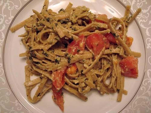 pesto with tomatoes