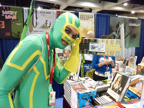 Kick-Ass loves Maakies! Fantagraphics booth, Comic-Con 2010