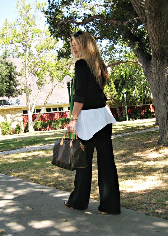 outfit+fashion+louis vuitton+miu miu+myne+green scarf+long hair