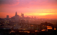 Sunrise over Cleveland, May 16, 2001