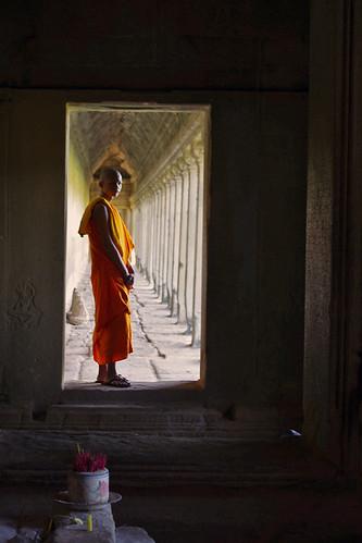 Monk at Angkor Wat