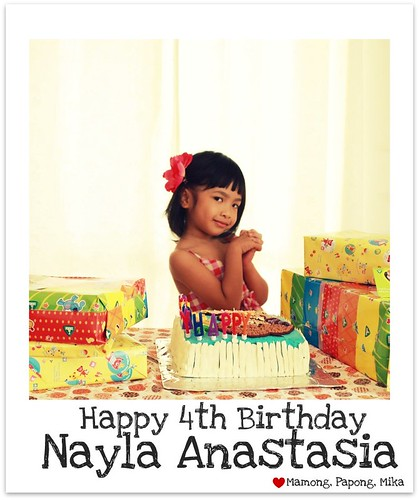 Happy 4th Birthday nayla