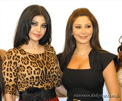 Elissa and Haifa Wehbe in the opening of the Louis Vuitton store-Beirut (Elissa Official Page) Tags: louis elissa opening haifa vuitton 2012   2011    wehbe             storebeirut