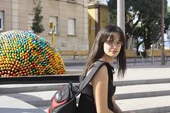En la plaza del Museo Dalí.