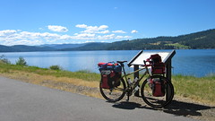 Trail of the Coeur d'Alene Ride (Doug Goodenough) Tags: trail ceur dalene ride bicycle cicyle bike camping bryce pedals spokes drg5310p drg53110pcda douggoodenough doug goodenough lakes idaho 2010 10 july salsafargo salsa fargo drg531