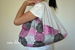 Japanese style wrap bag (coco stitch) Tags: black japanese grey purple etsy furoshiki andreavictoria cocostitch azumabukuro wrapbag