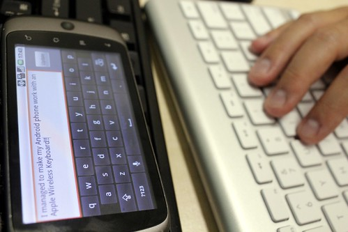 Apple Wireless Keyboard on a Nexus One