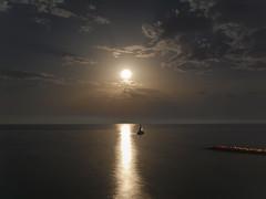 Moon & sea