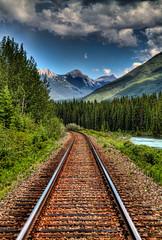 Banff Railroad Mountain View