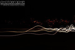 Long exposition (Nicols Sandoval V.) Tags: auto light white black blanco car night canon eos luces long exposure negro line rays largo exposicion lineas rayos t1i