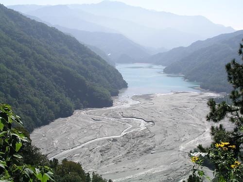 萬大水庫的淤積狀況 (攝於97年11月)
