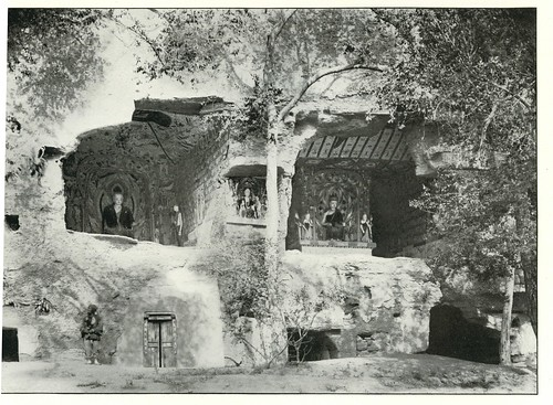 Cave shrines near ch. VIII, 'Caves of the Thousand Buddhas', Tun-Huang.