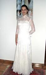 Luciana (Con Noivas) Tags: branco bride saopaulo artesanal casamento con mão vestido elegante tecido bordado fino costura costureira noivas altacostura connoivas vestidodenoivas