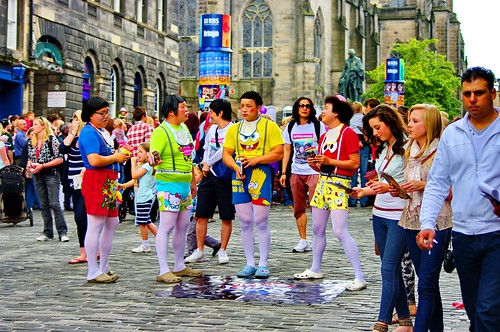 Edinburgh, Edimbourg, Scotland, The Fringe dans High street 6