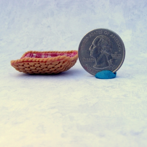 hand woven polymer clay bread basket