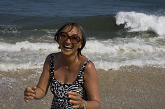 218.mom does not respect the ocean, and gets soaked (mintyfreshflavor) Tags: family beach mom seaside jersey day7 beachweek 2010yip shoreweek10