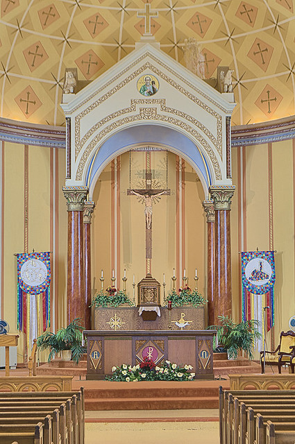 Saint Anthony Roman Catholic Church, in Lemay, Missouri, USA - sanctuary