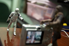Hey, Trooper...say cheese. (baketa) Tags: life camera trooper riodejaneiro canon project pose toy soldier star starwars brinquedo rj modeling secret posing troopers adventure vida stormtrooper wars 365 clone chewie sith chewbacca soldado hasbro aventura aventuras secreta baketa brunomendes
