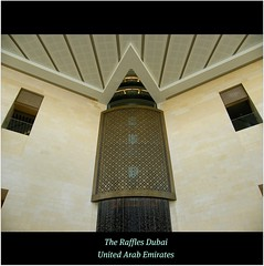 The Raffles Hotel Dubai, UAE : ICON : Follows in the tradition of the Raffles Hotel in Singapore. WORLD : SENSE : HOSPITALITY! Enjoy! :)