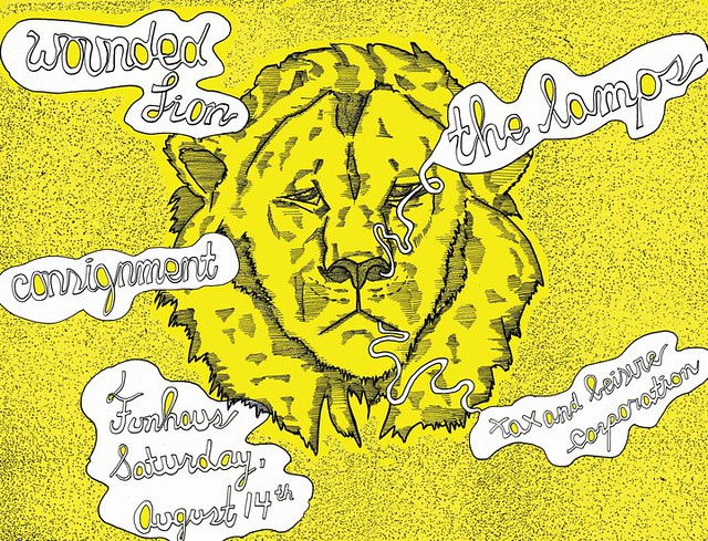 Wounded Lion, the Lamps, consignment - August 14th