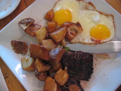 Berries Steak & Eggs