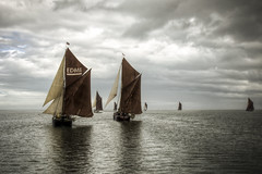 in full sail (stocks photography) Tags: sea water thames boats boat sails estuary stocks sail whitstable barge hdr faversham hernebay swale reculver bargematch whitstablebrewery stocksphotography michaelmarsh swalesmackandsailingbargematch2010