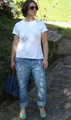 Jeans e camiseta básicas...