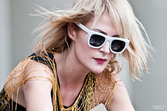 Emily Haines (gussifer | thecolorawesome.com) Tags: music chicago reflection sunglasses festival live group band saturday metric grantpark friday keyboards dates emilyhaines lollapalooza icecreamman lastfm:event=1182385