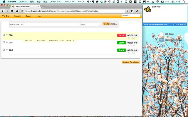 Hiveminder localtimetrack for chrome