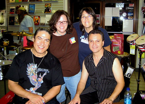 Me with Moe Jerant and Santana Percussionists Raul Rekow & Karl Perazzo