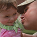 Lance Cpl. from 24th MEU kisses daughter when returning home from deployment