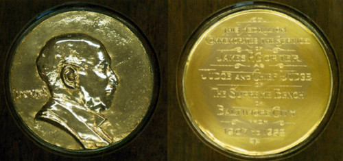 James P. Gorter medal in gold
