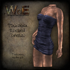 Tatiana Ruched Dress - Midnight