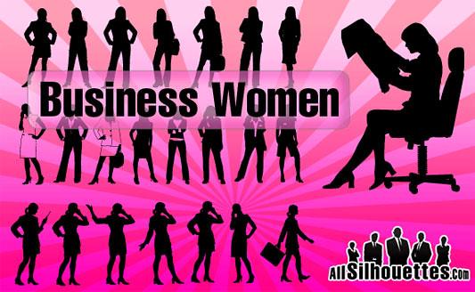 Click en la imagen para descarga Siluetas en formato vector - 23 Mujeres ejecutivas