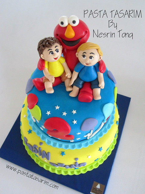 ELMO CAKE - ERSIN AND DEMIR BIRTHDAY