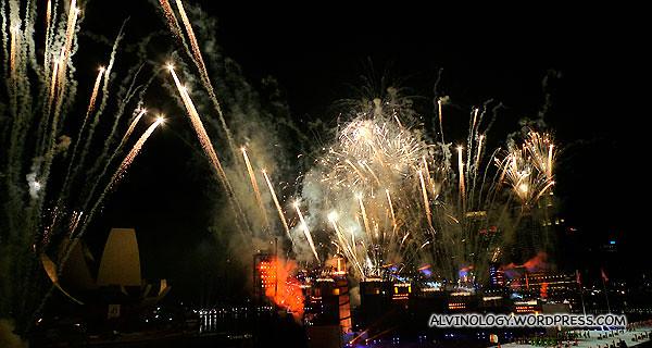 Mad frenzy of fireworks
