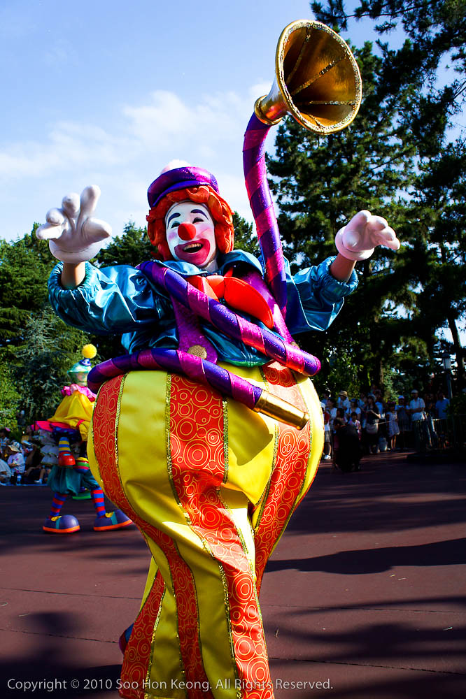 Clown @ Afternoon Parade, Tokyo Disneyland, Japan