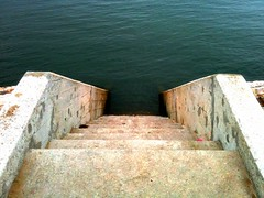 Down to the Water (Domiriel) Tags: water stone stairs river descend iphone iphoneography