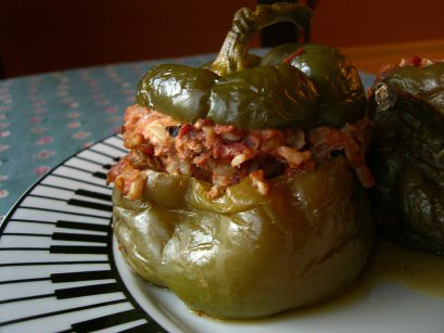 Crockpot Stuffed Bell Pepper