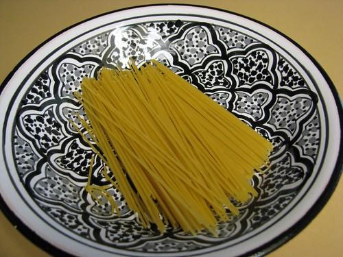 pasta broken in half
