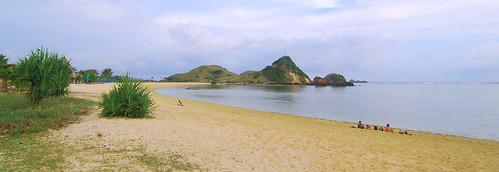 Kuta Beach Lombok in Wide