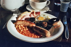(bobby stokes) Tags: food mushroom breakfast bacon tea toast egg sausage bakedbeans fullenglishbreakfast blackpudding