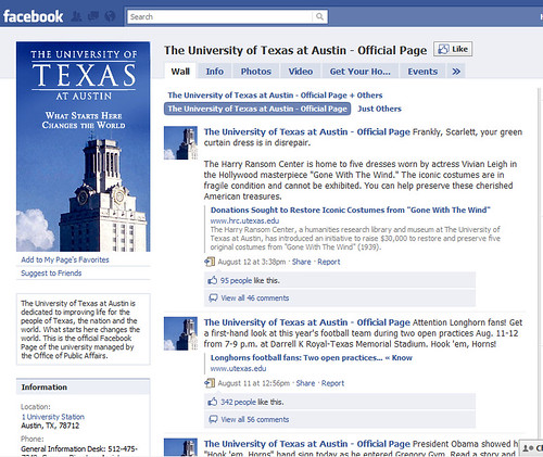 University of Texas at Austin on Facebook