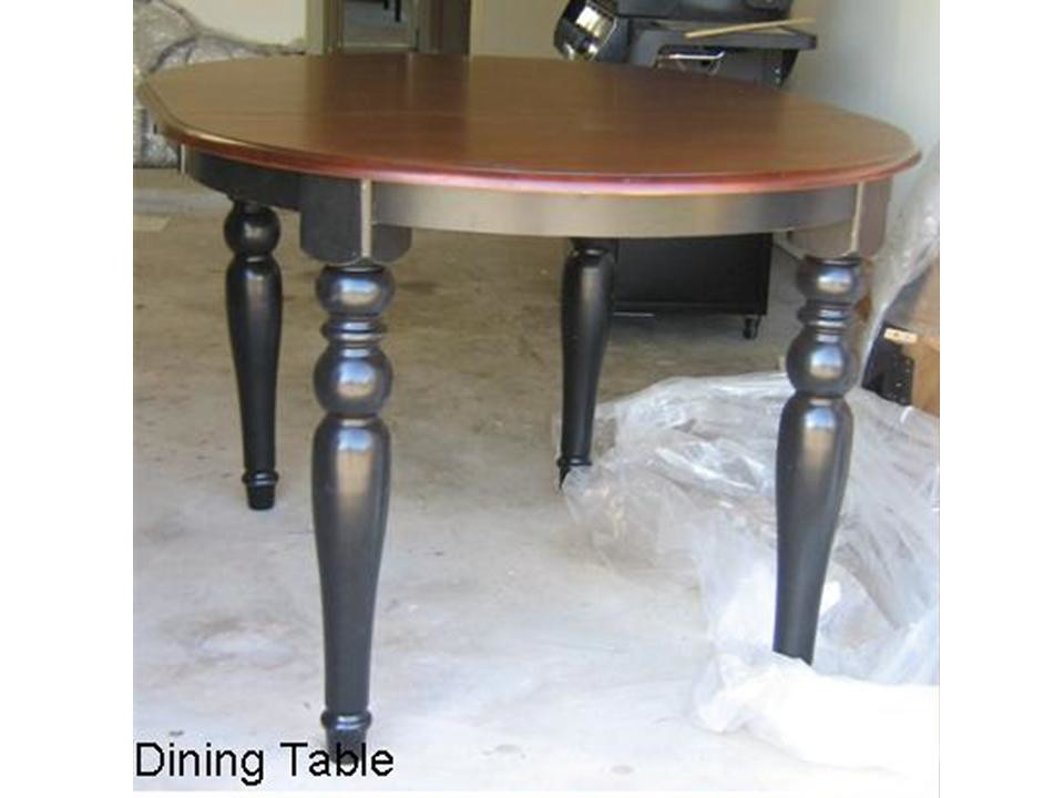 Dining table with leaf(Round or Oval)
