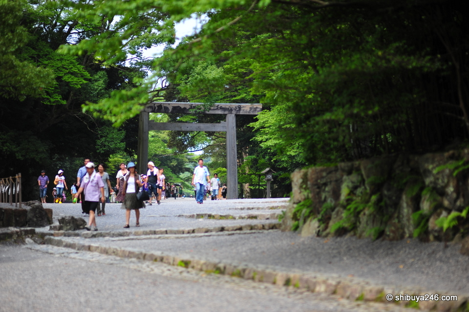 Lots of walking involved around Ise Jingu