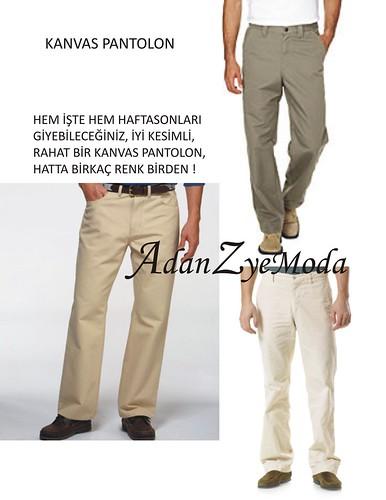 kanvas pantolonlar