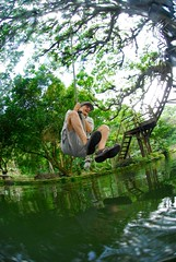 Rope swing over the natural swimming pool (Canopy Family) Tags: plants plant man latinamerica nature water smiling stone river flow happy thirties jump jumping healthy movement underwater natural stones perspective bubbles rope move fresh valley vegetation hanging environment excercise anton split current balancing centralamerica ecosystem panamanian healty thirthy canopylodge panamenian womanb1276