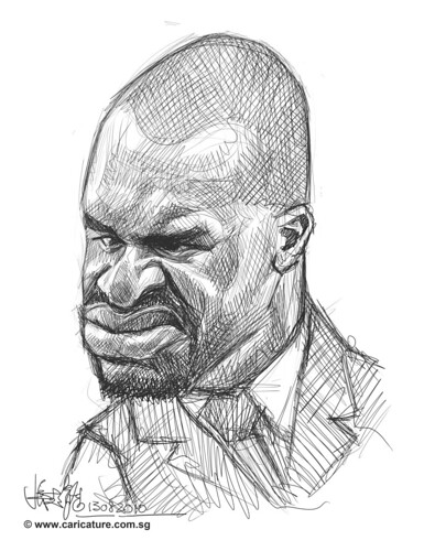 Schoolism Assignment 2 - sketch study of Shaquille O'neil - 2