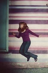 JUMP purple lines (laurenlemon) Tags: ca film lines 35mm la jump jumping purple nightlife westhollywood kodakportra160vc 2010 canonf1 jumpology laurenrandolph caitlinrandolph laurenlemon